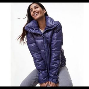 LOFT puffer jacket funnel neck NWT